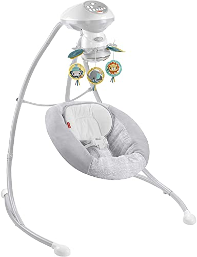 Fisher-Price Hearthstone Swing, Two Motion Baby Swing Seat with Music, Sounds, and Motorized Mobile