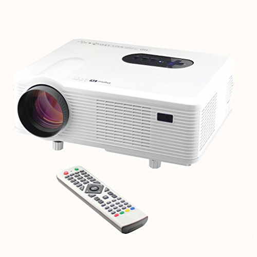 Excelvan CL720 HD Home Cinema Theater Multimedia Projector (3000 Lumens,Native 720P Suppoprt 1080P Resolution,HDMI/Analog TV/VGA/AV),White