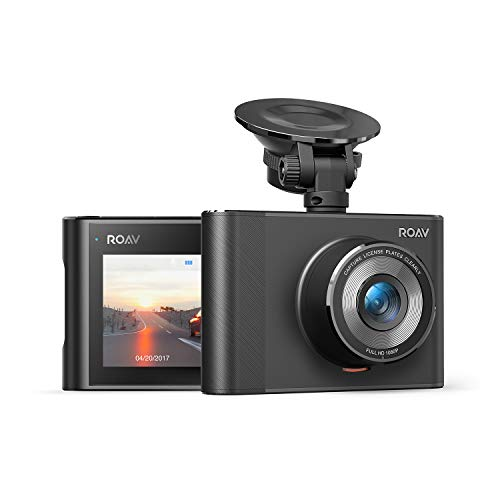 Roav DashCam A1, by Anker, Dash Cam, Dashboard Camera Recorder, 1080p FHD, Nighthawk Vision, Wide-Angle View, Wi-Fi, G-Sensor, WDR, Loop Recording, Ni