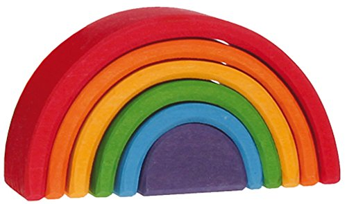 Lime wooden rainbow, Grimm's 10,5 cm by Grimm's Spiel & Holz Design
