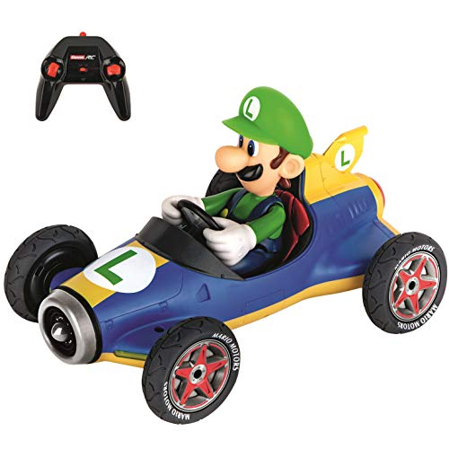 Carrera RC 370181067 Official Licensed Mario Kart Mach 8 Luigi 1: 18 Scale 2.4 GHz Remote Control Car with Rechargeable Lifepo4 Battery - Kids Toys Boys/Girls