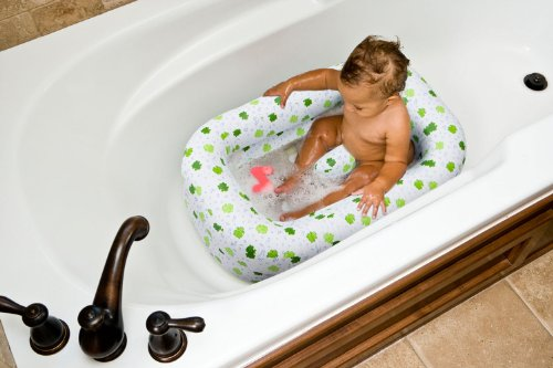 Mommy'S Helper Bañera Inflable Froggie Collection, blanco/verde, 6 a 18 meses