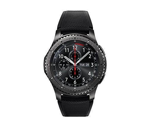 Samsung SM-R760NDAAXAR Gear S3 Frontier - Reloj Inteligente, Bluetooth, Gorilla Glass SR+, 360x360 mp, 278 ppi, 1.3', Super AMOLED, On-Cell Touch AMOLED, Caja de 46 x 49 x 12.9 mm (1.81' x 1.93' x 0.51')
