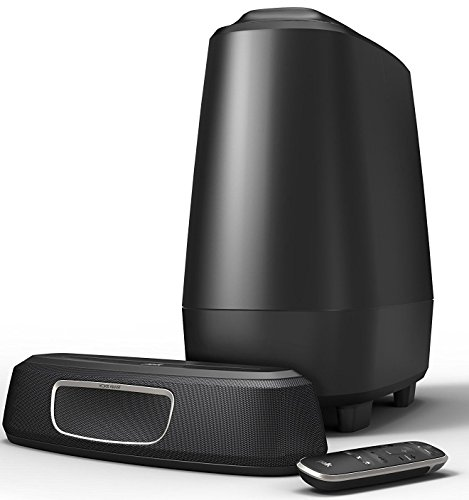 Polk Audio MagniFi Mini Barra de Sonido Ultra Compacta con Subwoofer, Color Negro