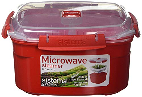 Sistema 1102 - Microwave cookware (Steamer, Rojo, Transperent)