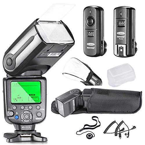 Neewer NW565EX i-TTL Slave Flash Kit for Nikon DSLR Camera Such as D7100 D7000 D5300 D5200,Include:(1) NW565N Flash +(1) 2.4GHz Wireless Trigger+Hard&Soft Flash Diffuser+Lens Cap Holder+N1&N3 Cable