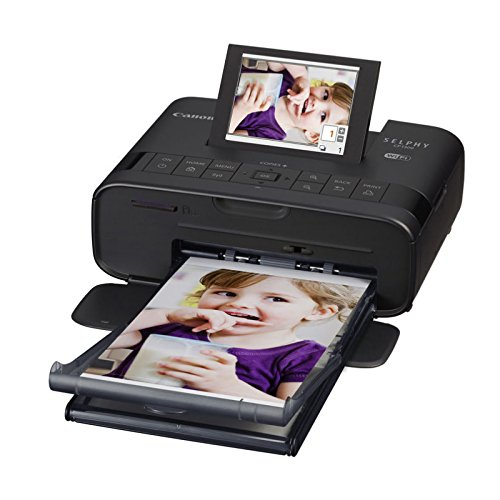 Canon SELPHY CP1300 Wireless Compact Photo Printer with AirPrint and Mopria Device Printing, Black (2234C001)