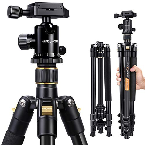 K&F Concept® TM2324 62-Inch Professional SLR Camera Tripod with Ball Head Bag for DSLR